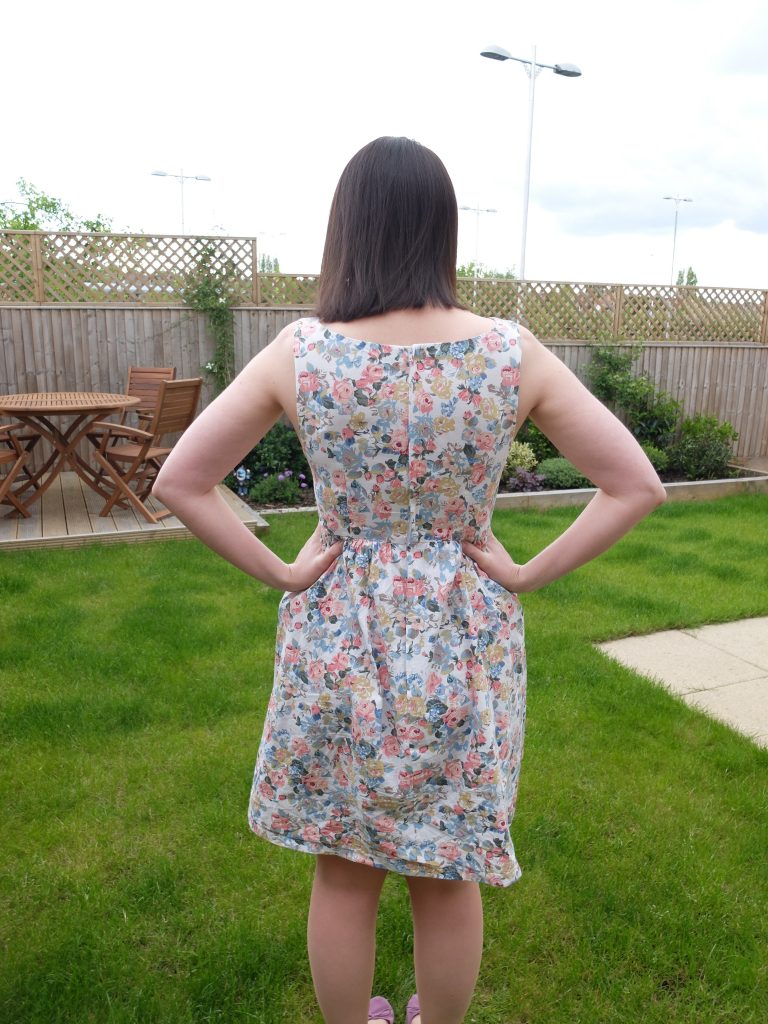 almond rock simplicity 2444 floral summer dress