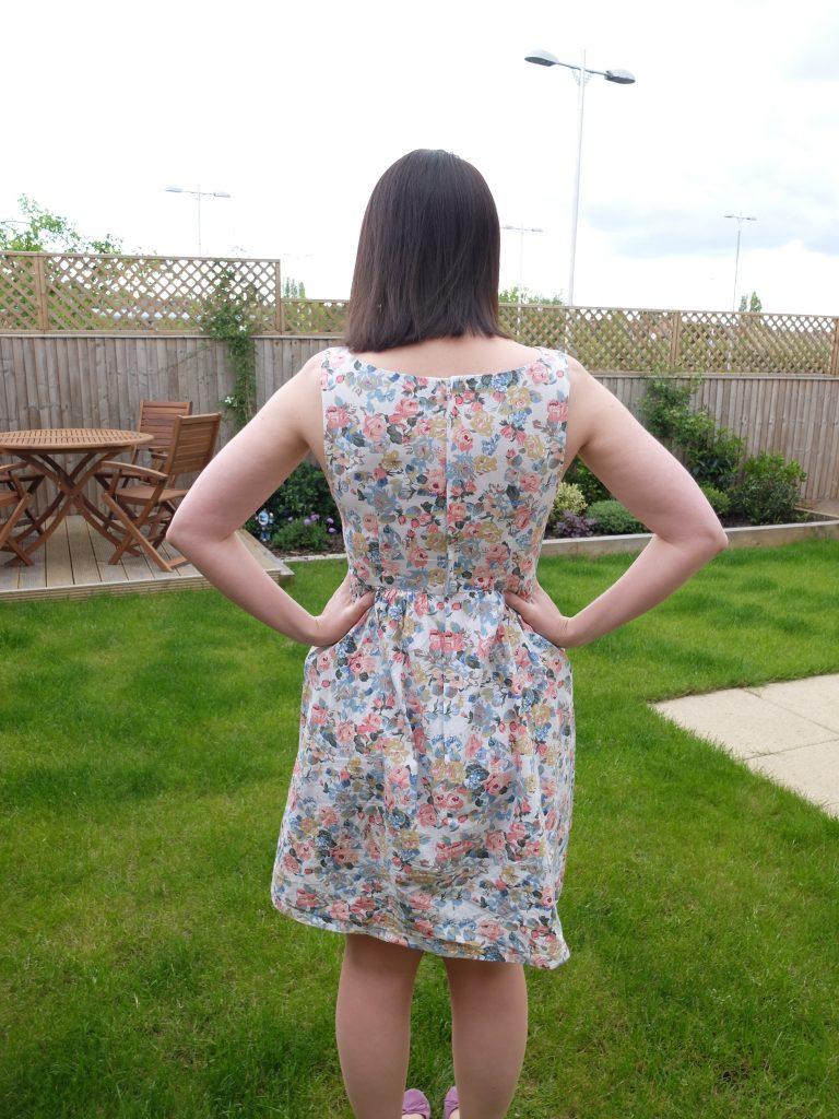 almond rock simplicity 2444 floral summer dress