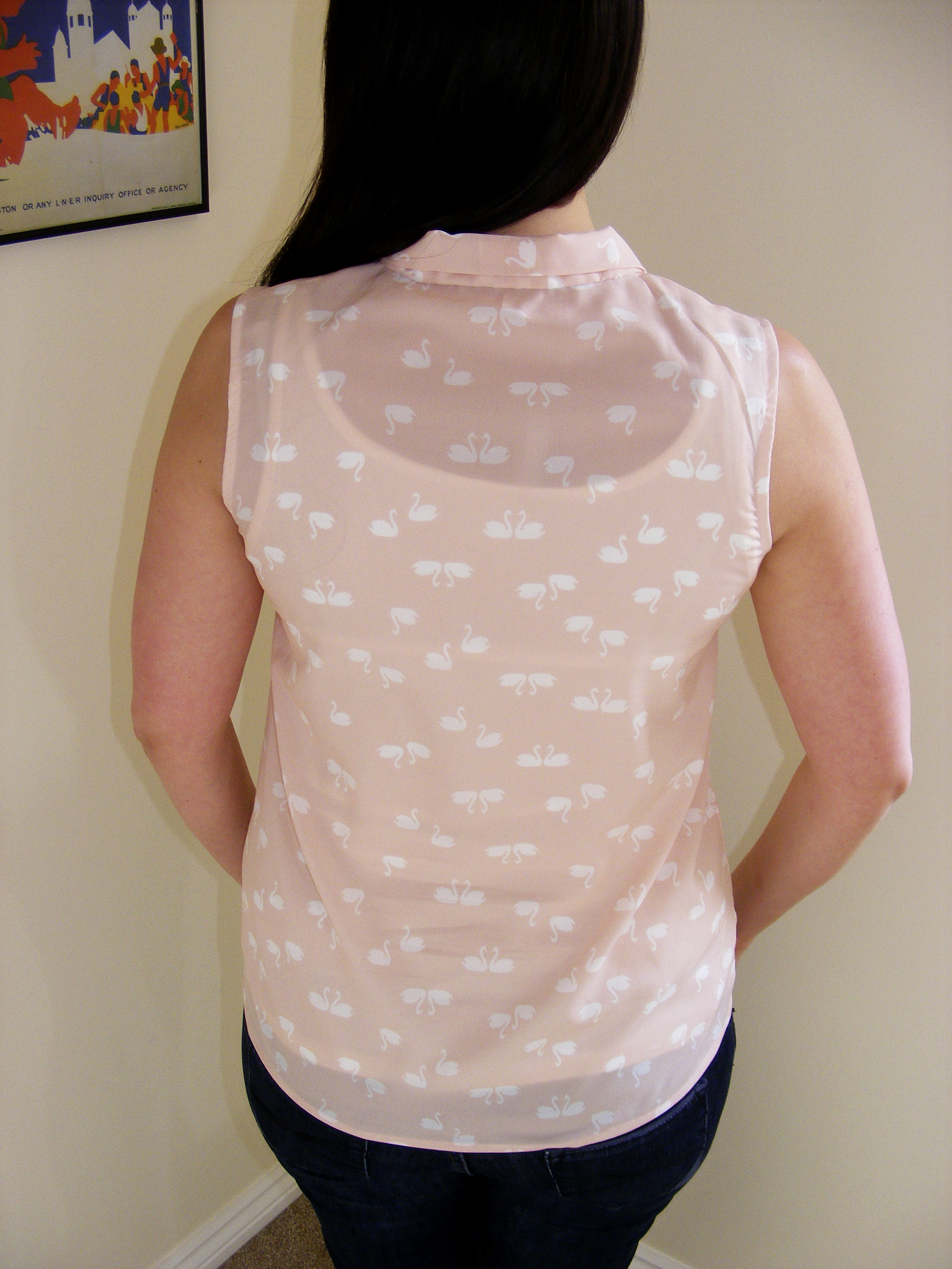 almond rock sew over it pussy bow blouse swans