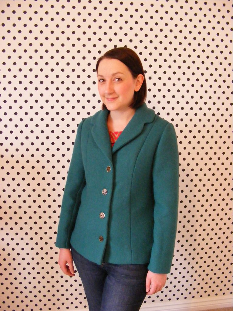 almond rock emerald green wool style 2563 jacket