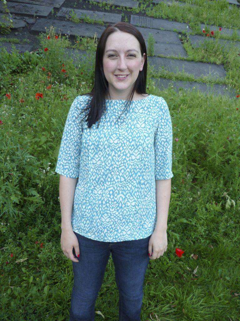 almond rock tilly turquoise polyester mathilde blouse